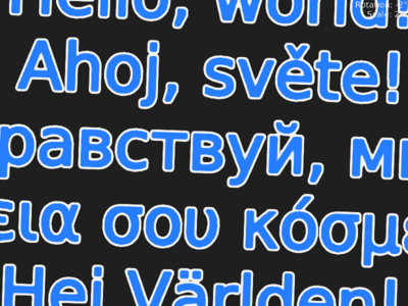 Examples » Text rendering   Magnum C++ docs